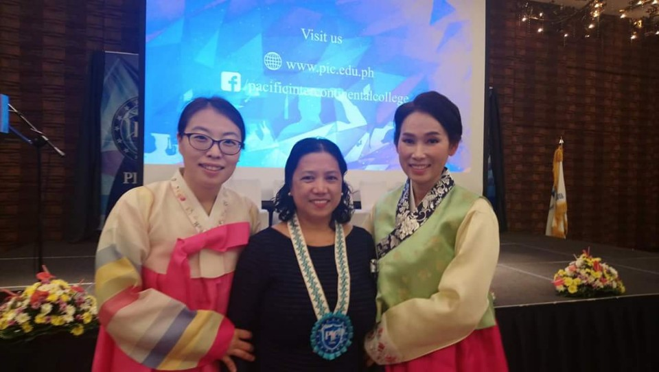 Dr. Maria Gina Baiza with Sophie and Annie